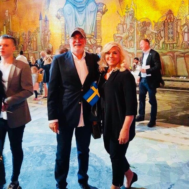 İsveç vatandaşlığına geçen memleketimiz Fügen Korucu Stockholm belediye Saray'ındaki